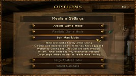Updated Realism Settings Menu