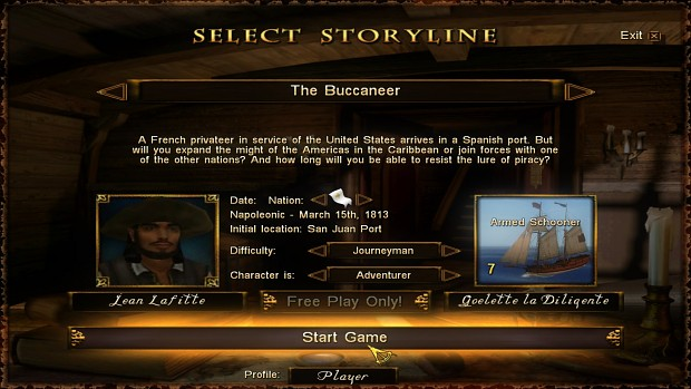 New Free Play storyline: Jean Lafitte