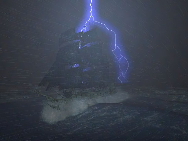 Flying Dutchman in Storm