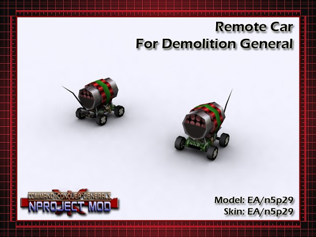 Demolition General Remote Car
