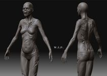 Female Zombie WIP by Bojin Shi