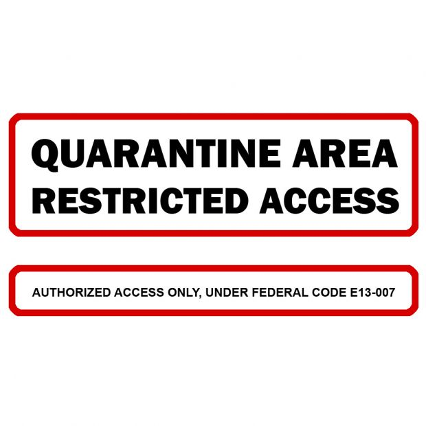 photograph about Quarantine Sign Printable identified as Quarantine Indication Texture via Matt impression - DEADLOCK mod for