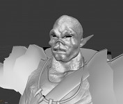 WIP Orc Face