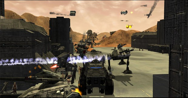 Massive ground assault.