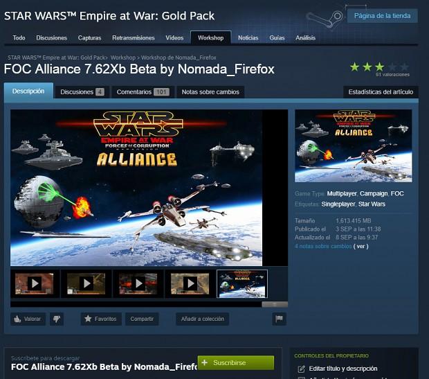 FOC Alliance 7.62X Steam Workshop Released!
