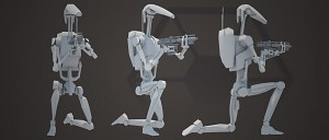 Early WIP Render of the new B1 battledroids