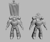 Space Marine Sergeant models