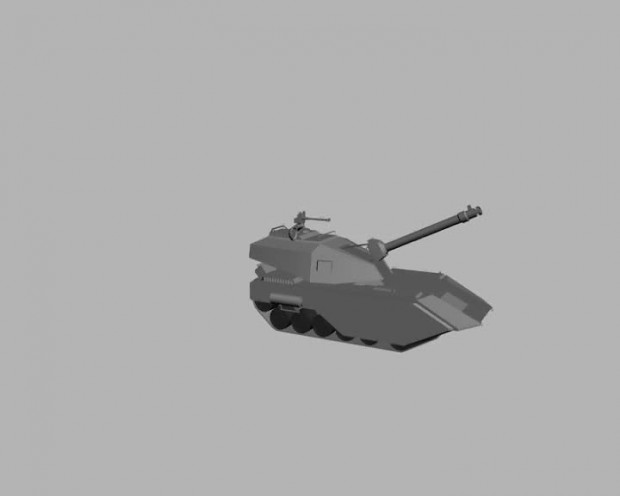Анимация танка в неоахис