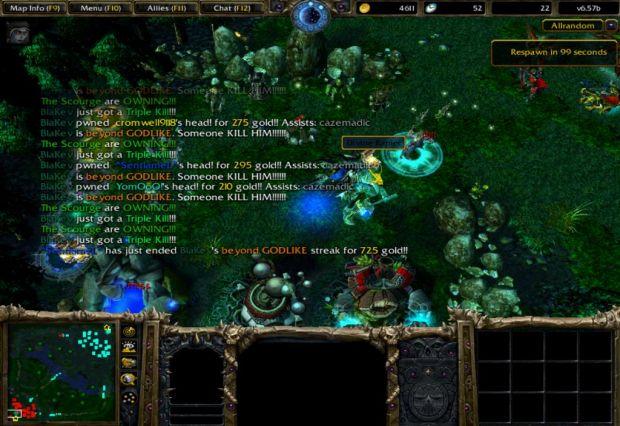 how to change dota map