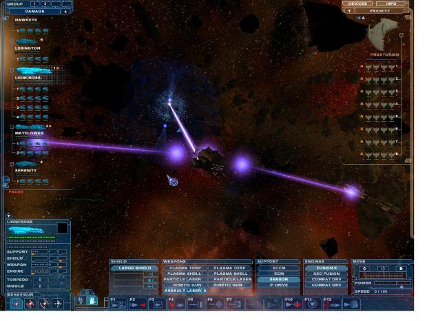 assault laser firing