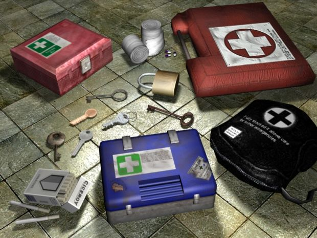 Usable props like keys, first aid kits