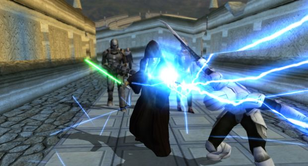 Kreia using Force Lightning