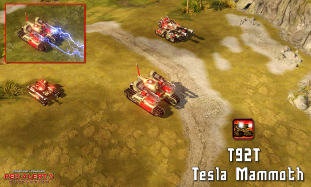 T92t Tesla Mammoth Image Red Alert 3 Revolution Mod For