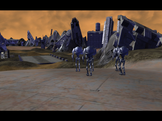 Droid attack on Raxus prime
