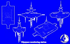 Blueprint of the slipspace monitoring station