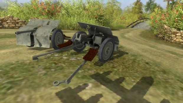 Polish wz.36 3.7cm Antitank Cannon.