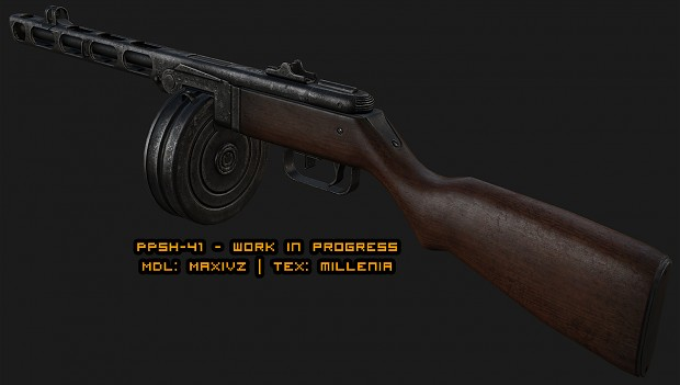 PPSH-41 texturing