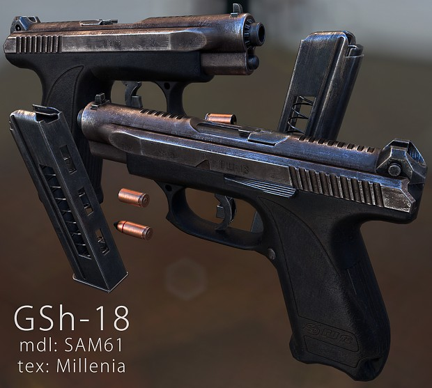GSh-18 textured