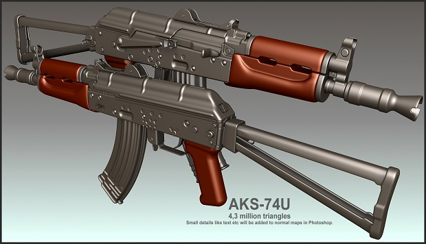 AKS74U highpoly finished