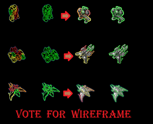 Vote for player wireframes