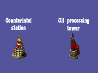 Soviet Counterintel station + Oil processing tower