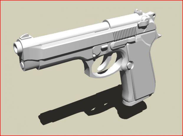 M9 Pistol (Un-textured)
