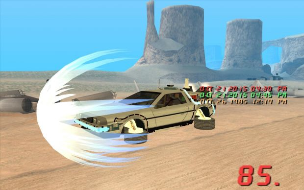 Grand Valley Auto >> New Wormhole Texture - Flying DeLorean image - Back To The Future Hill Valley San Andreas ...