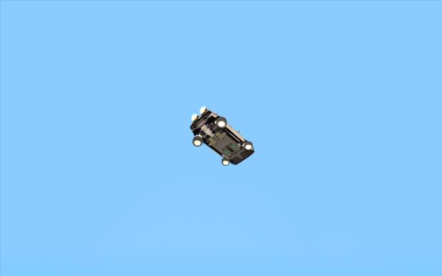 Flying Delorean