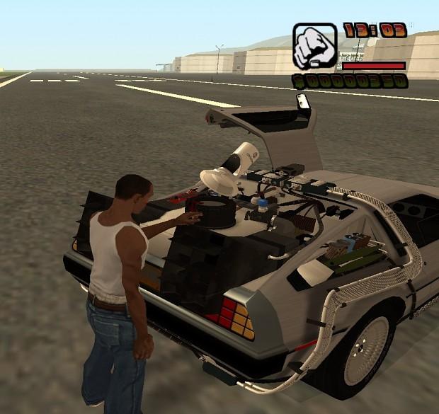 Gta 4 Vehicles Img For Backup Mod: BTTF HV 0.2f DeLorean In GTA SA Image
