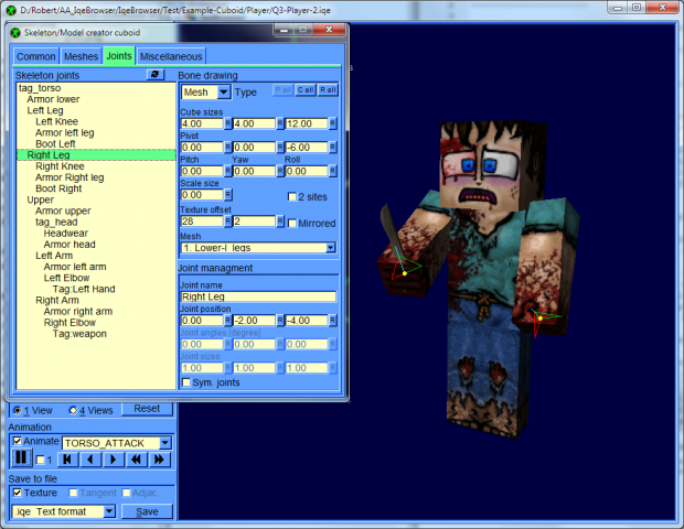 IqeBrowser V2 16 model creator, minecraft player image