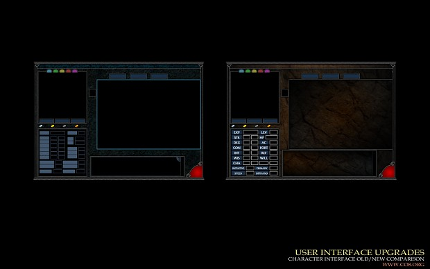 User Interface Upgrades - Character Interface