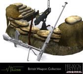 A collection of some of the British Weapons