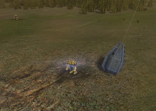 Mech Marine drop-pods
