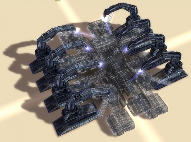 Gantry building the Doomsday from Total Mayhem