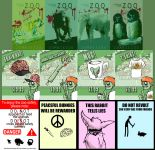Zombie Zoo Posters