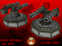Chinese gattling turret