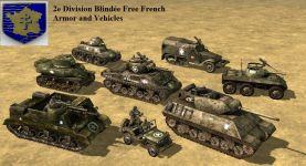 Vehicles from the 2e Division Blindée Free French