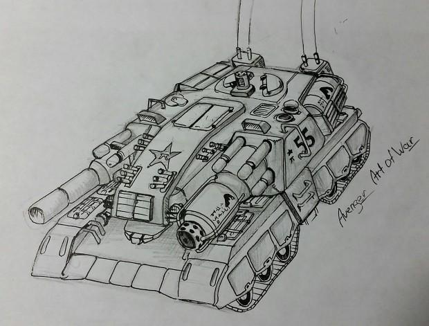 Dragonfather superheavy tank concept