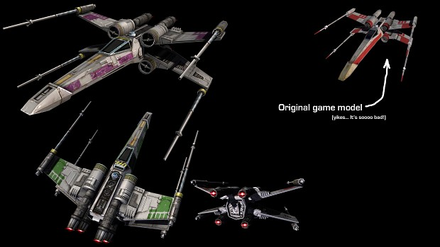New X-wing model