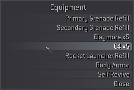 Equipment Shop UI