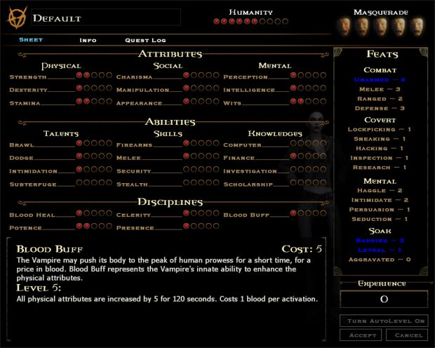 Enhanced Character Sheet