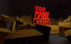 Too Many Crates! Menu