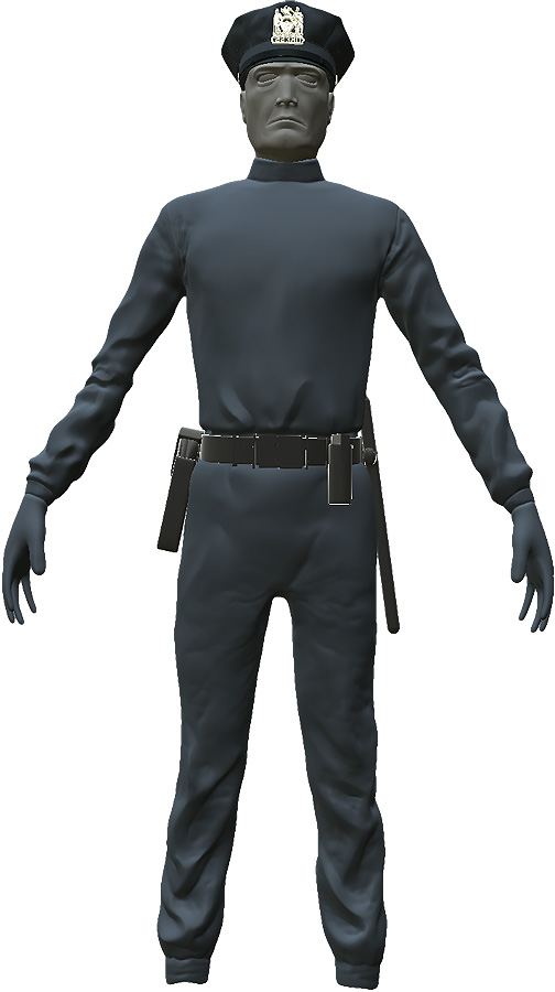 Entire cop body: Hipoly, untextured