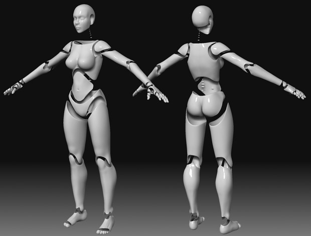 Exotic Dancer bot High Poly WIP