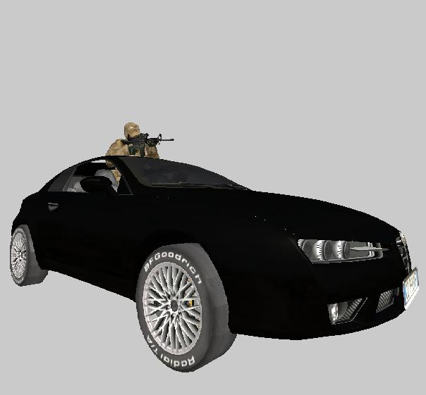 Alpha Romeo Brera (Bad guys car)