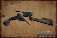 Special Mauser and Luger pistols