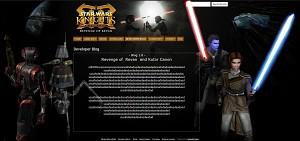 Revenge of Revan  WebSite Work in Process
