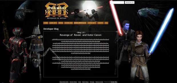 Revenge of Revan  WebSite Work in Process