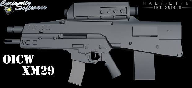 OICW XM29 - Low poly NonTextured
