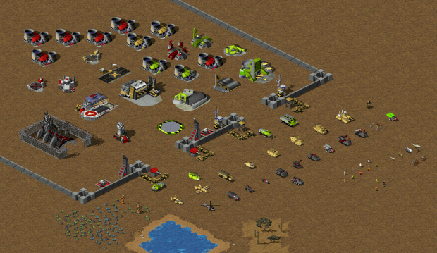 All units and buildings on one screen